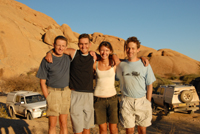 Ben, Mark, Siann, AJ delivering a programme in Namibia 2007